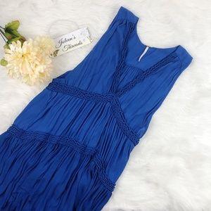 Free People Royal Blue Ruffled Tunic or Mini Dress